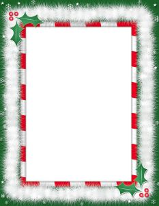 Christmas Holly Border Page  Public Domain Clip Art Image  Wpclipart