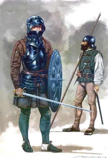 """""""Rodelero y piquero de las tropas de Hernán Cortés"""", Dionisio Álvarez Cueto"""