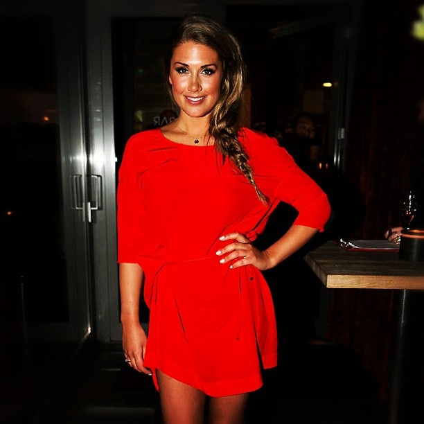 Norwegian singer Tone Damli, in Designers Remix dress