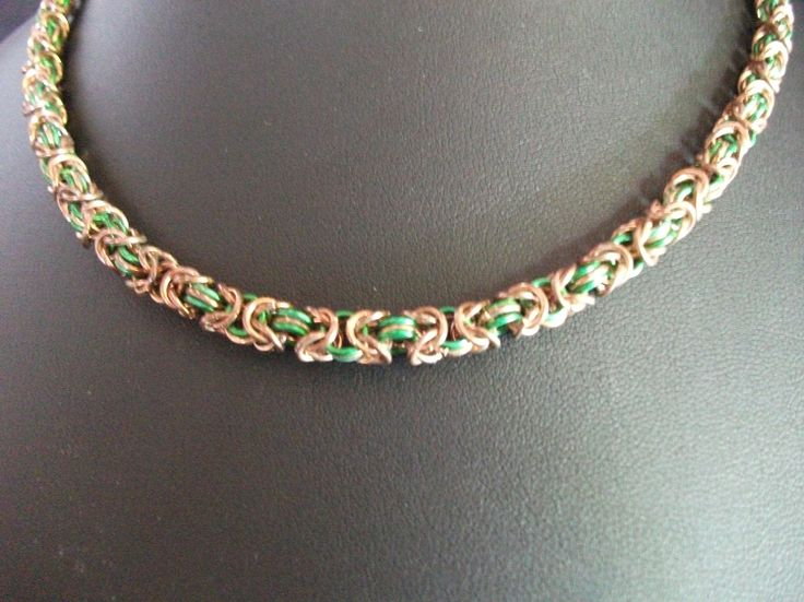 Striped Byzantine Necklace Available on TRADE through Trad. Commerce Exchange! http://tandcglobal.com
