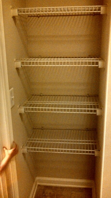 easy way to convert an old coat closet into a food storage pantry