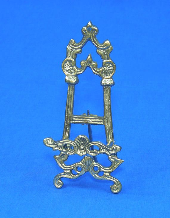 Antique Style Brass Ornate Easel Display Stand