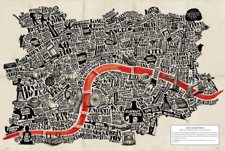 An artist's map of London
