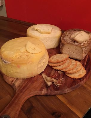 cheese made for medieval themed party , Cheddar, Colby and Stout cheeses