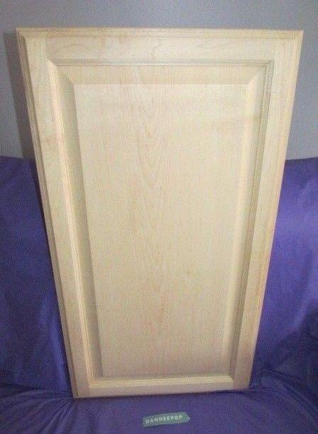 Maple Unfinished Stain Grade Kitchen Cabinet Raised Panel Door 29 7