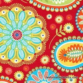 Gypsy Bandana Paisley in Red by Pillow and Maxfield
