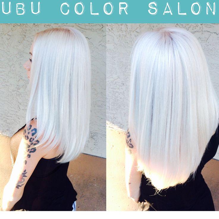 http://ubucolorsalon.blogspot.com Platinum Icy Blonde hair #tampa #tampabayhair #platinumblonde