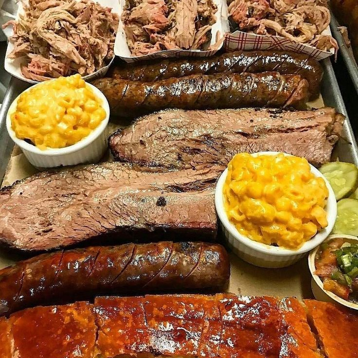 Where would you start on this platter? . . . Shout out to @hoodoobrownbbq. . . . #Barbecue #BBQ #BBQPorn #Beef #Carne #Carnivore #Food #Foodgasm #Foodie #Foodies #FoodPhotography #FoodPics #FoodPorn #Foodstagram #ForkYeah #GlutenFree #Grill #Grilling #Instafood #Meat #liveauthentic #eeeeeats #feedfeed #onthetable #f52grams #buzzfeast #BBQplatter #Ribs #Brisket #Chicken