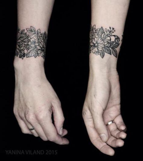 20 Simple Bracelet Tattoos Pinterest Ideas And Designs