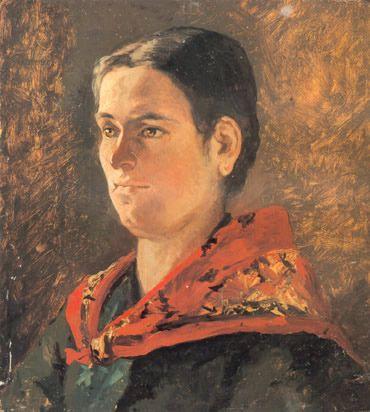 Fattori, Giovanni - 1880 Portrait of Contadina by RasMarley, via Flickr