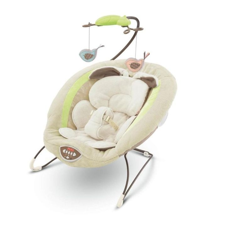 Fisher-Price My Little Snugabunny Bouncer Baby Seat NEW Vibrating Chair Rocker