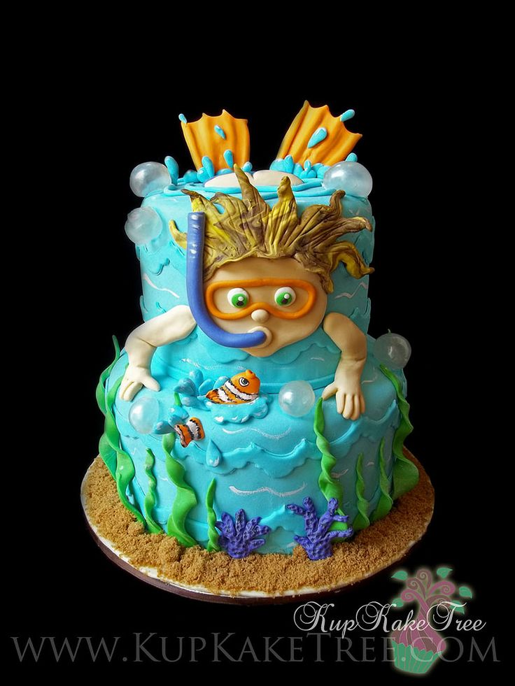 kid swimming cake | by KupKake Tree