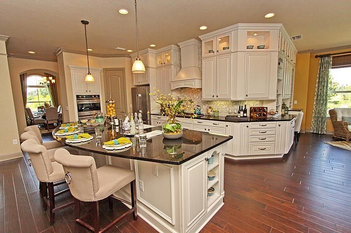 another view of the pretty model home kitchen kitchen