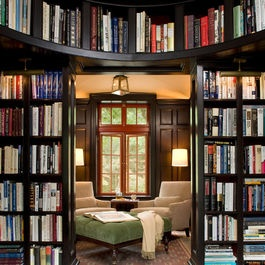 Family Room Design Ideas, Pictures, Remodel and Decor... Sliding library?