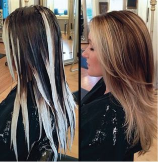 Hand-painted highlights are literally the most natural looking highlights ever. Theyre the best!