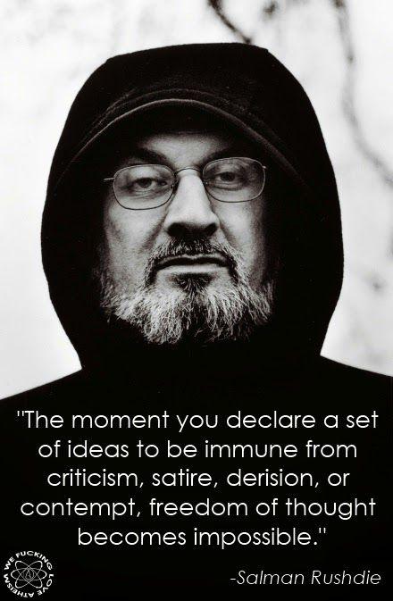 Salman Rushdie Ideas Immunity Quote