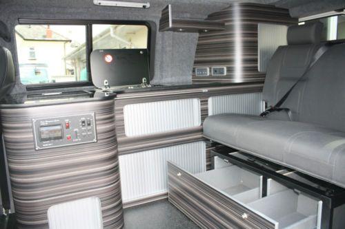 Camper Campervan Conversion Unit Curve Stripe Wood Vw