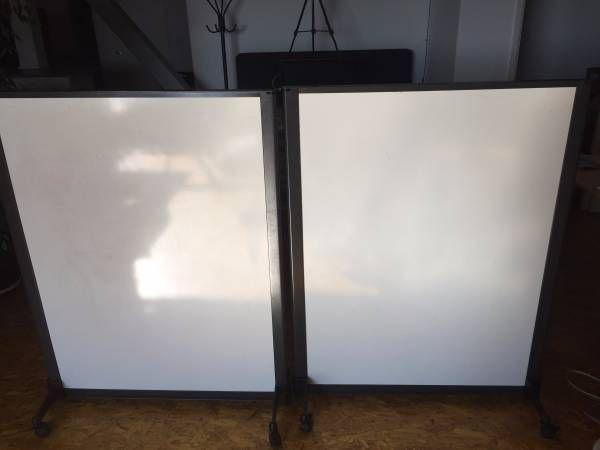 Steelcase rolling whiteboards