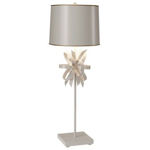 THE WELL APPOINTED HOUSE - Luxuries for the Home - THE WELL APPOINTED HOME Stray Dog Designs Beauregard Light Gray Metal Table Lamp #decor #homedecor #homeaccessories #lighting #lightfixtures