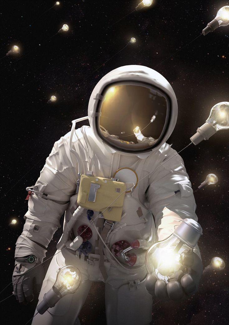 картинка красивая космонавт