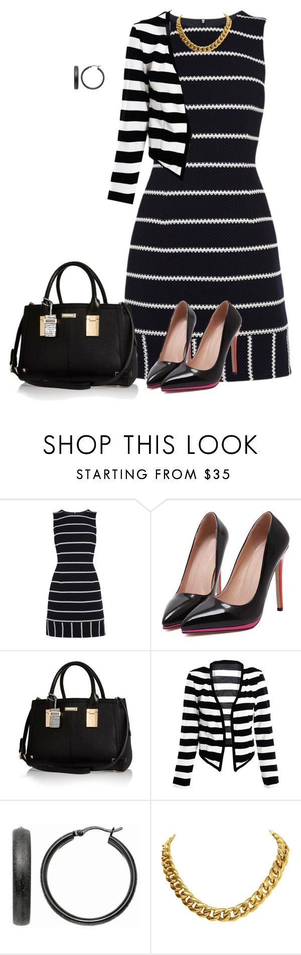 """""""mixup work look"""" by kristie-payne ❤ liked on Polyvore featuring Karen Millen, River Island, Mondevio, CÉLINE, women's clothing, women's fashion, women, female, woman and misses"""