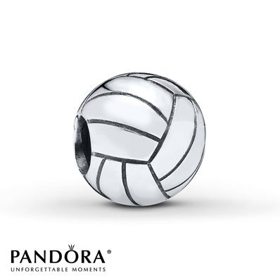 Realistically depicted, this sterling silver charm from the Pandora Spring 2014 collection features a volleyball. Style # 791270.