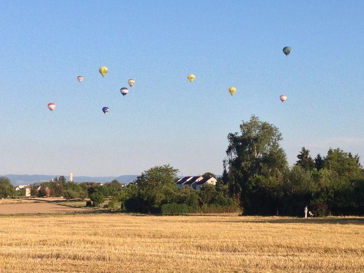 Ballons flying over Ostfildern..,