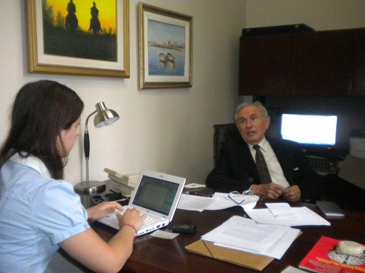 """Elvio Baldinelli, ex Embajador de Argentina ante la Unión Europea, Director en la Fundación ICBC en entrevista con periodista Vanina Fattori para """"Equilibrium Global""""."""