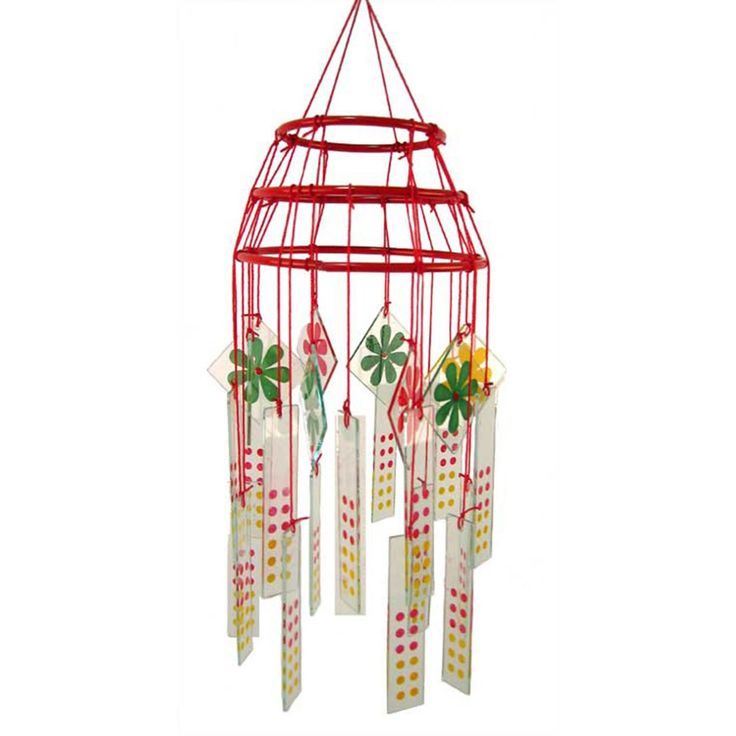 AmazonSmile : Gorgeous Chinese Glass Wind Chime and Mobile : Patio, Lawn & Garden