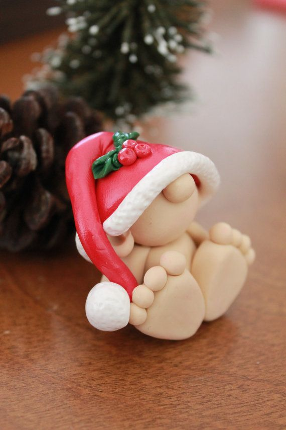 OOAK Hand Sculpted Christmas Baby Gnome by GnomeWoods on Etsy