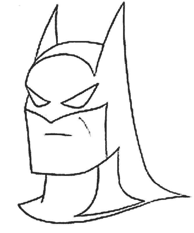 Dibujo de la cara de batman « Dibujos para colorear – QueDibujos.com