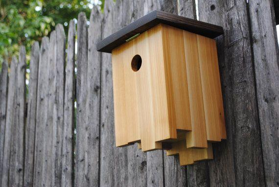 Mid Century Modern Birdhouse Ocelot Made In Vermont