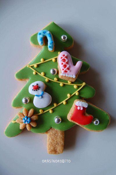 クリスマス アイシングクッキー (クリスマスツリー) | アイシングクッキーおかしのこびとのブログ