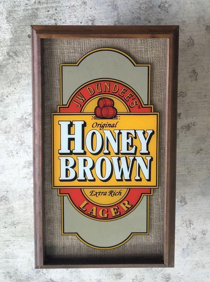Vintage JW Dundees  Honey Brown Lager Mirror Framed Beer Sign new in box  | eBay