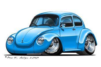 Pics Photos - Volkswagen Beetle Cartoon