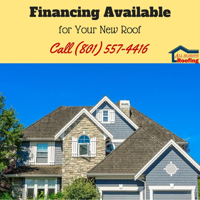 Attractive Roofing All Season Offers Financing With No Deposits Or Down Payments!  #UtahRoofingContractor
