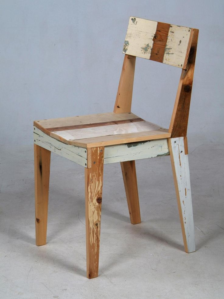 : Vans, Heine Eek, Dining Chairs, Woods Chairs, Recycled, Furniture, Distressed Woods, Dutch Design, Pat Heine