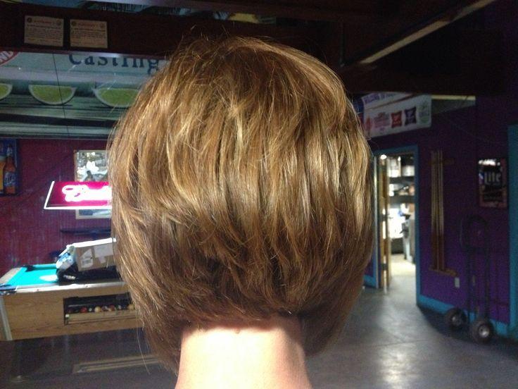 Stacked Bob Haircut Hairstyle   Stacked angled bob   Short Hairstyles