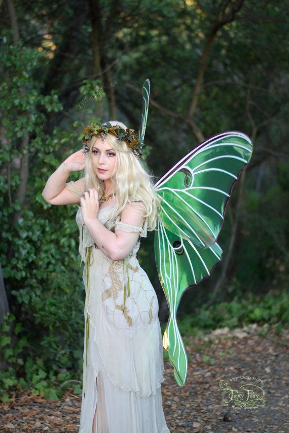 Giant Luna Moth Painted Fairy Wings Ready to Ship by TheFancyFairy