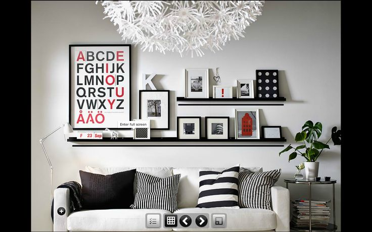 Ikea Picture Shelf Love The Alphabet Poster Living Room