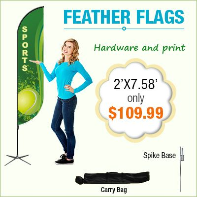 Custom ‪‎Feather flags‬, High Quality Printed Flutter Flags Perfect for Promotions . Suitable for use both ‪‎indoors‬ and ‪‎outdoors‬ Events in ‎canada‬. http://www.bannerbuzz.ca/feather-flags.html