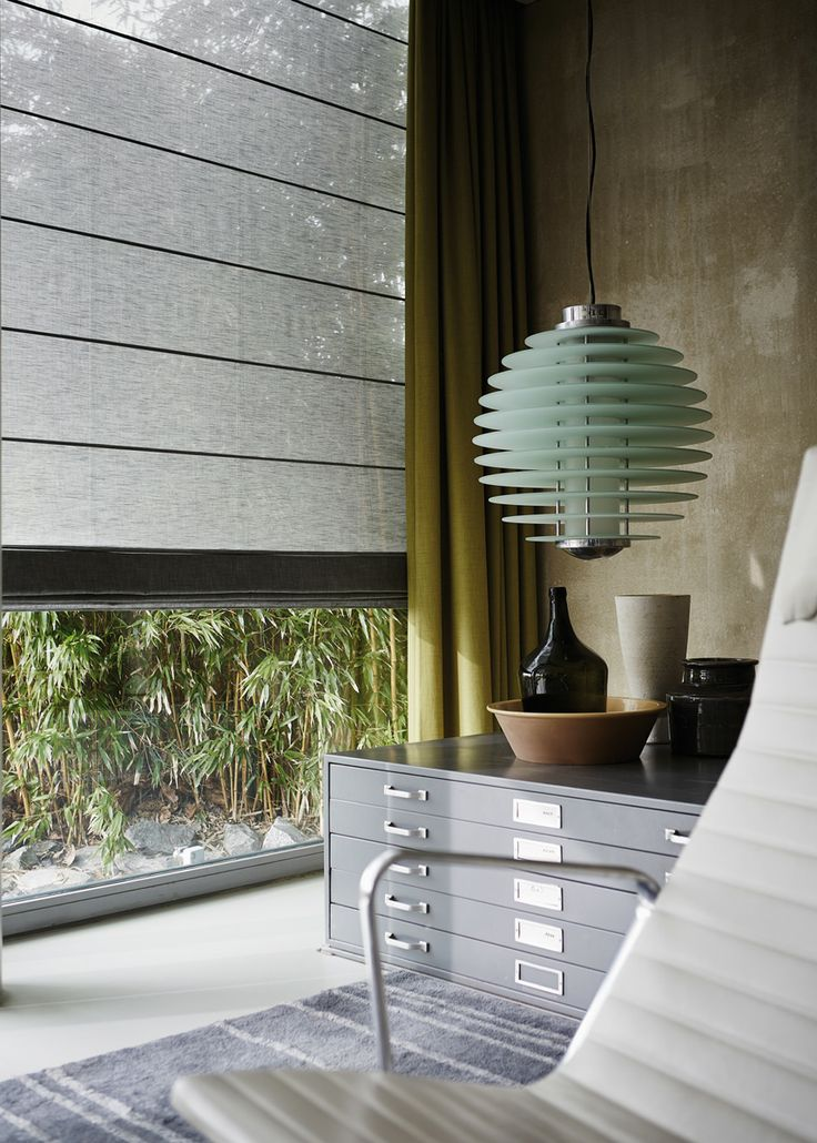 Luxaflex® Roman Shades   Decoratieve stoffen op maat gemaakt.