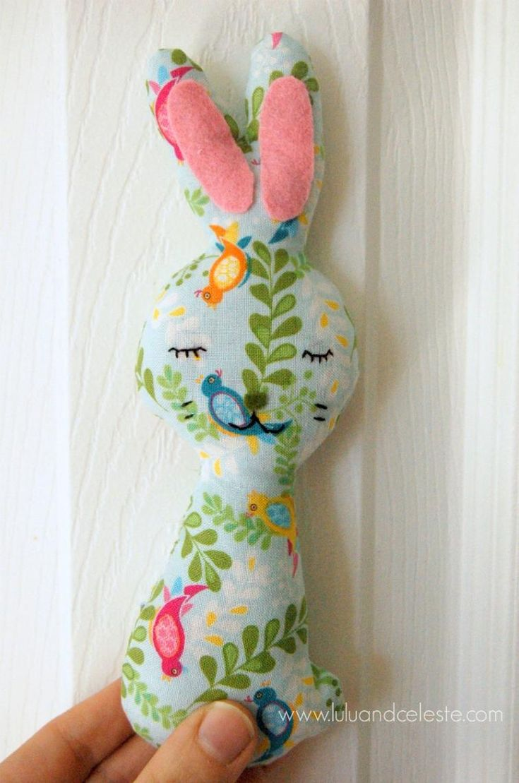 Bunny Softie FREE Sewing Pattern and Tutorial - https://sewing4free.com/bunny-softie-free-sewing-pattern-tutorial/