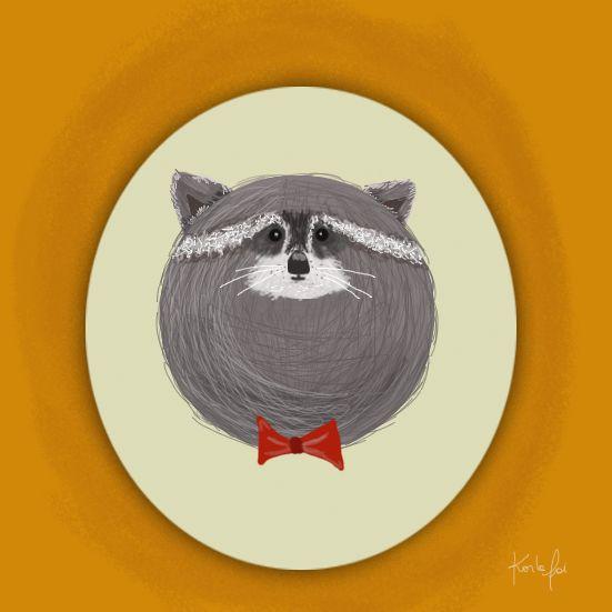 #illustration #ilustracion #mapache #raccoon #karlafai