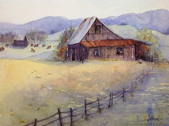 30 best art judy mudd images on pinterest watercolour for Watercolor barn paintings