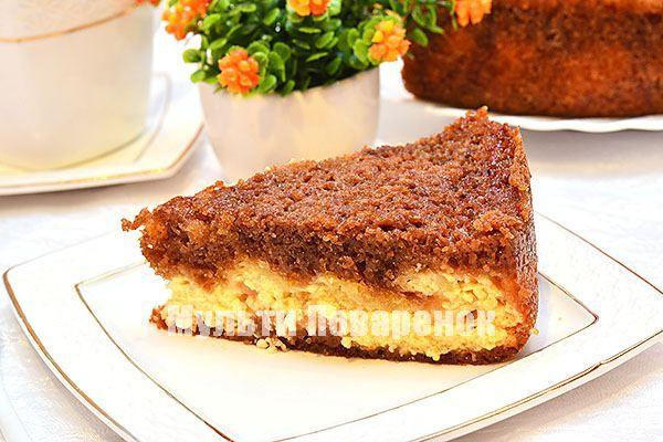 Простой пирог с творогом в мультиварке: рецепт на шоколадном тесте