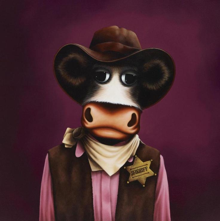 How about a Cowboy cum Sheriff 'Hay Wayne - 2' by Caroline Shotton.
