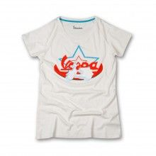 #Vespa Star #Tshirt: 100% cotton stone washed with printed image and logo Vespa. Customized Vespa logo inside. Sizes: XS to XL. discover more!