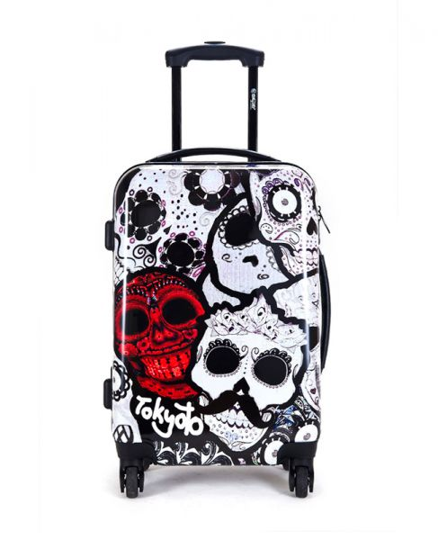 Suitcase Smiling Skulls