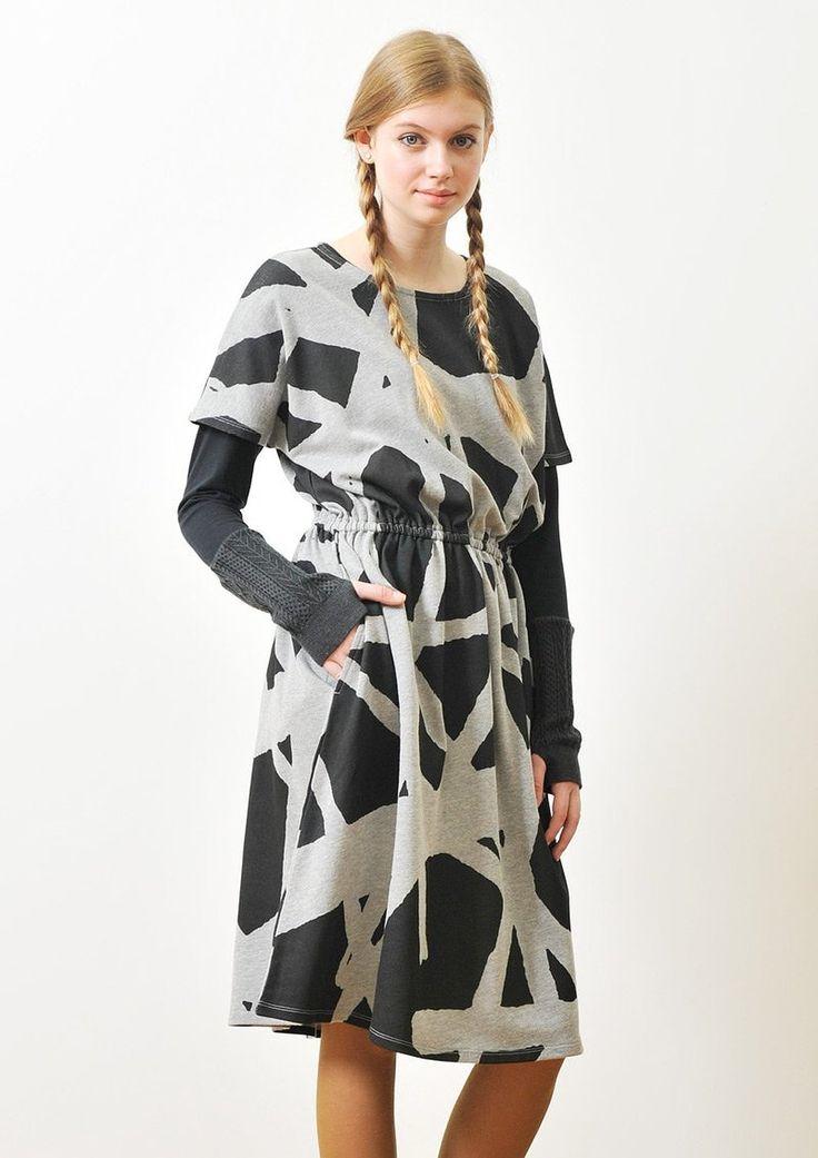 Amazon.co.jp: ( グラニフ ) graniph ブラウジング 半袖 スウェット ワンピース / ラインラインライン ( ヘザーグレー ) Lady(F): 服&ファッション小物通販